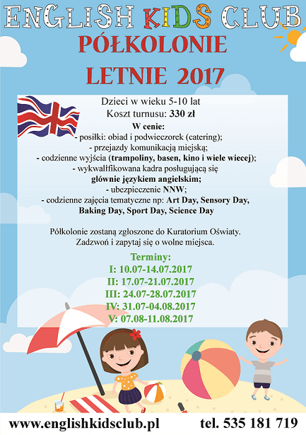 półkolonie letnie Białystok 2017